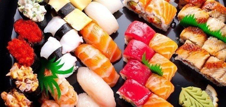 Скидка 50% на всё меню службы доставки японской кухни «iSushi»
