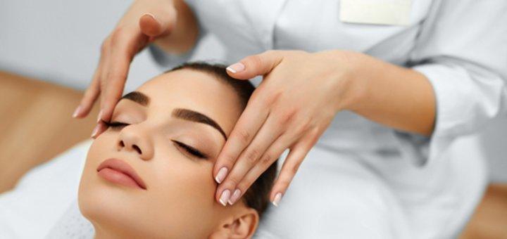 До 7 сеансов массажа лица, шеи и зоны декольте в кабинете фитопаротерапии