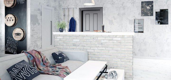 Скидка до 85% на индивидуальный дизайн-проект жилого помещения от студии «Yudesign»