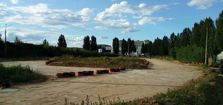 Скидка до 47% на заезды на первом в Украине грунтовом картинге на автодроме Чайка от Dirt Kart