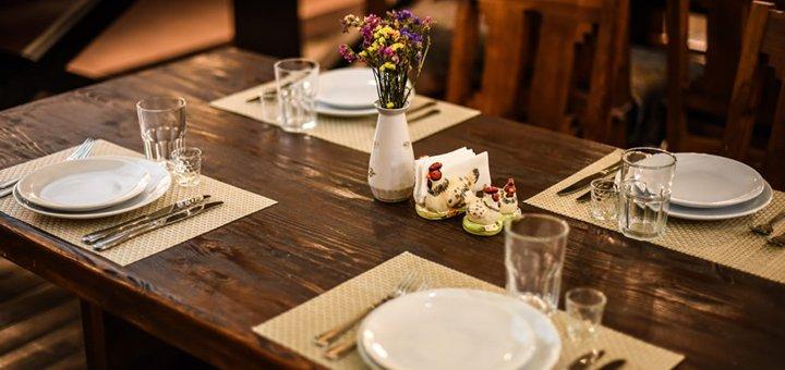 Скидка 30% на всё меню кухни и бара в ресторане «Козак»