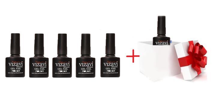 При покупке 5 гель-лаков «Vizavi Professional» – «Base Coat» в подарок