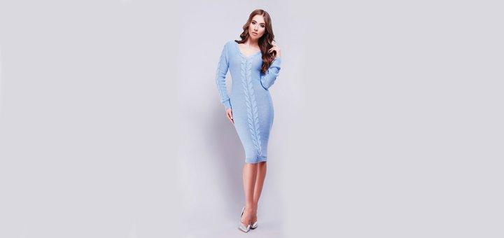 Бесплатная доставка при покупке вязаного платья от интернет-магазина «Stilno»