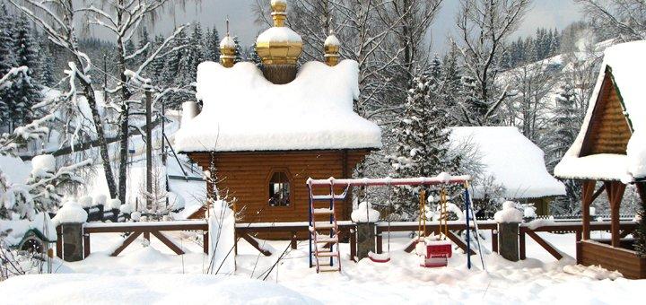 От 3 дней отдыха для двоих с крытым бассейном и Спа в эко-отеле «Ялинка» в Вышкове