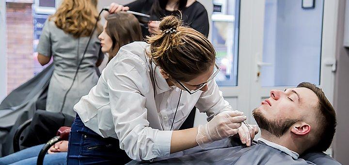 Мужская стрижка, укладка и коррекция бороды от барбершопа «LEO»