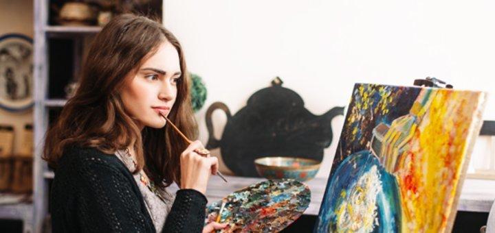 До 32 занятий масляной или акварельной живописью от «Art Garden»