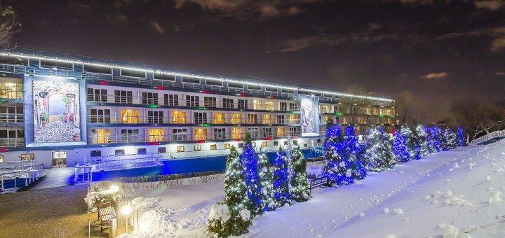 От 2 дней отдыха с романтическим ужином в номере с видом на реку в арт-отеле «Баккара» в Киеве