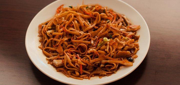 Скидка 50% на всё меню кухни и на вынос в китайском ресторане «Food WOK»