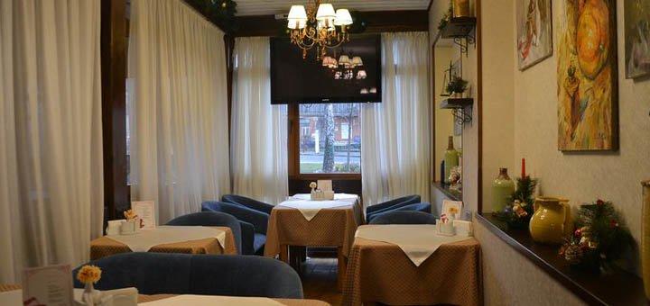 Скидка 30% на все меню кухни и бар в ресторане «Флюгер»