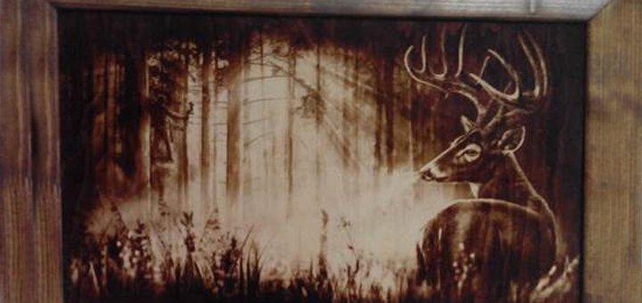 Гравировка изображения или фотографии на дереве от «Woodburning»