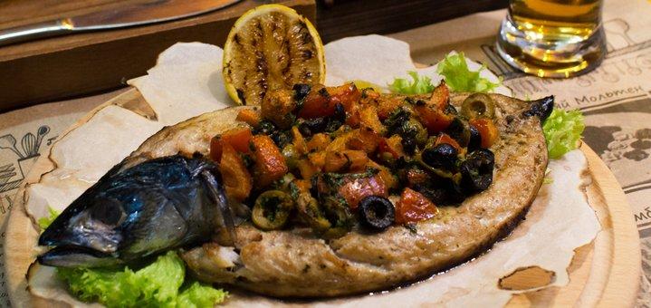 Скидка 40% на все меню кухни и бара в кафе-баре «Tarabar»