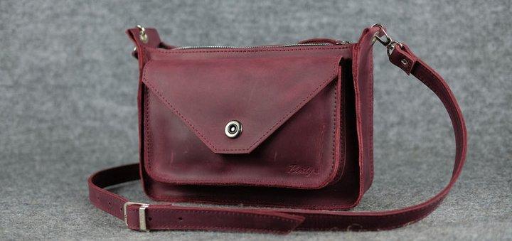 Скидка 10% на кожаные сумки «Уголок» ручной работы