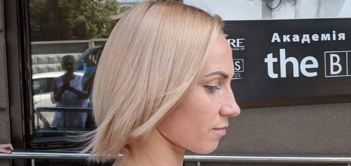 Однотонное окрашивание со стрижкой и укладкой от стилиста-парикмахера Игоря Малашкевича