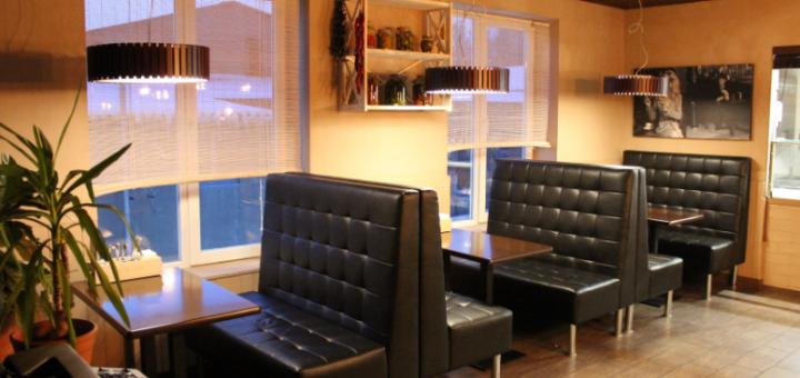 Скидка 50% на всё меню кухни, пиццу и суши в «Cafe Soda: Pizza and Grill»