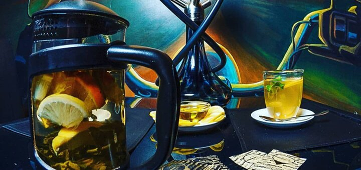 Скидка 50% на все меню кухни, чайную и кофейную карту, кальяны в «Shantaram Gold Bar»