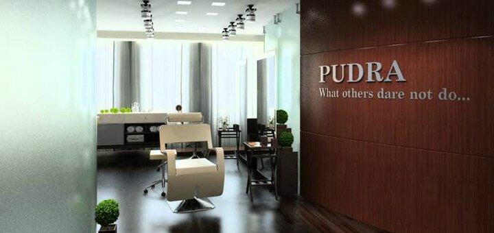 Мужская или женская стрижка, восстановление или окрашивание волос в бутик-салоне «Pudra»