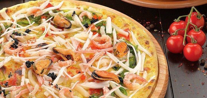Скидка 50% на пиццу, суши и десерты в итальянском ресторане «Портофино»