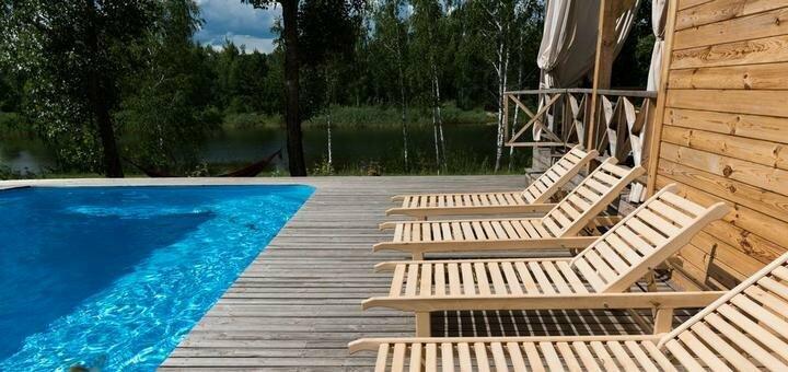 Скидка 20% для четверых на проживание в коттеджах комплекса «Relax Villa Poduszka» под Киевом