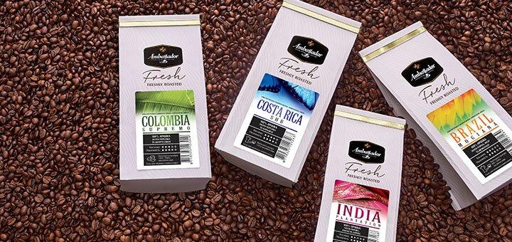 Скидка 20% на премиальные сорта арабики из разных уголков мира в магазине «Ambassador Fresh»