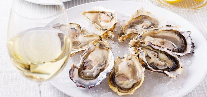 Устрицы и вино в рыбном ресторане «Причал 14»