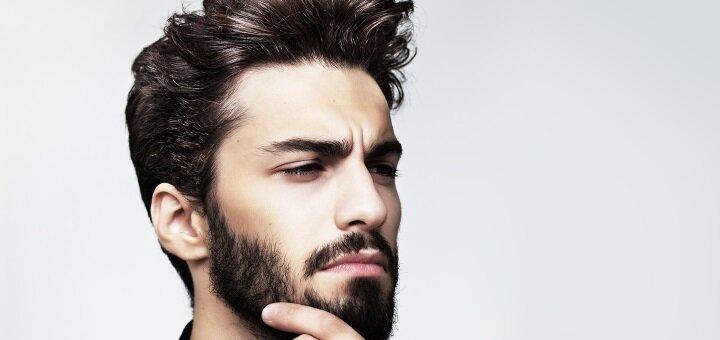 Мужская стрижка с укладкой и коррекцией бороды в «Elegance Studio»