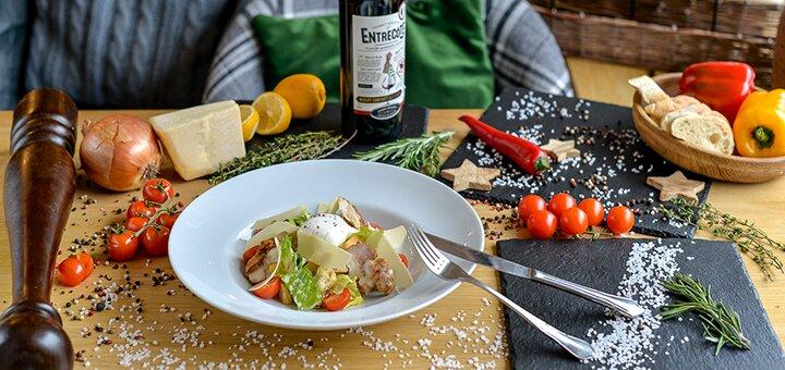 Скидка 50% на все меню кухни в ресторане европейской кухни «Public Cafe»