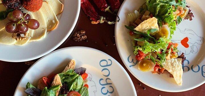Скидка 50% на меню кухни в ресторане грузинской кухни «Georgia» на Крещатике в будние дни