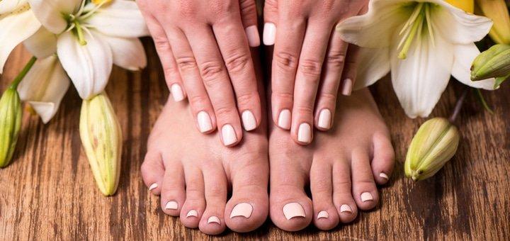 """Комбинированный маникюр и педикюр, покрытие ногтей гель-лаком в салоне красоты """"Beauty'S""""!"""